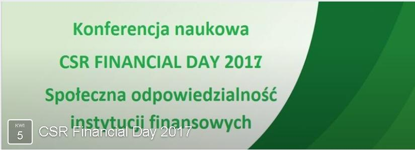 CSR Financial Day 2017