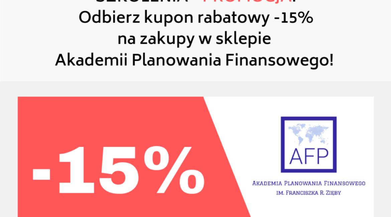 -15% na udział w dowolnym szkoleniu z oferty Akademii Planowania Finansowego